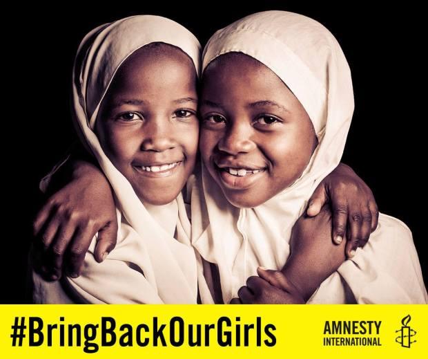 """Imagem retirada da campanha internacional #Bringbakourgirls (ou, """"tragam de volta nossas meninas"""")"""